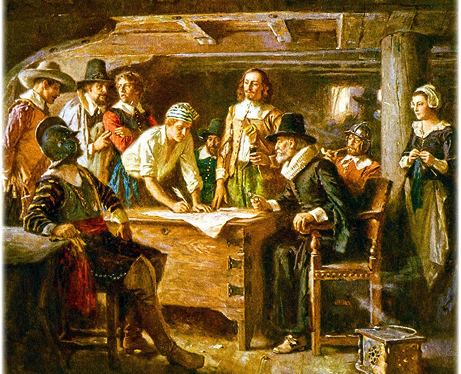 Image result for mayflower compact signed by pilgrims
